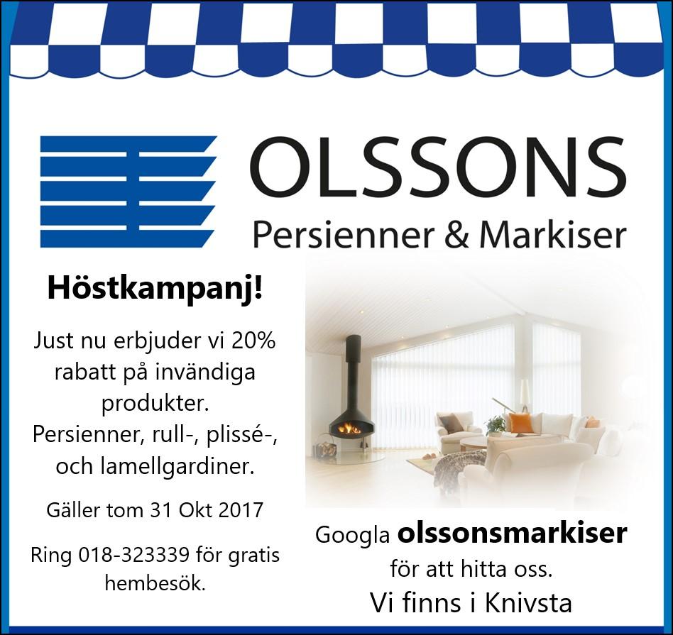 Välkommen - Olssons persienner och markiser